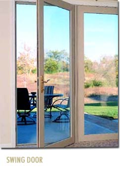Quantum2 vinyl windows energy efficient maintenance free for Single swing patio door